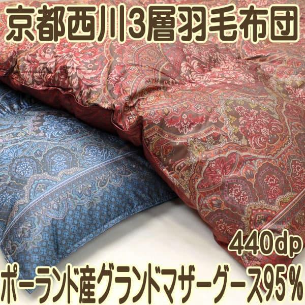 京都西川3層羽毛布団