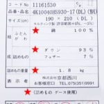 京都西川羽毛布団ハンガリー産グース410dpシングル60超長綿SL
