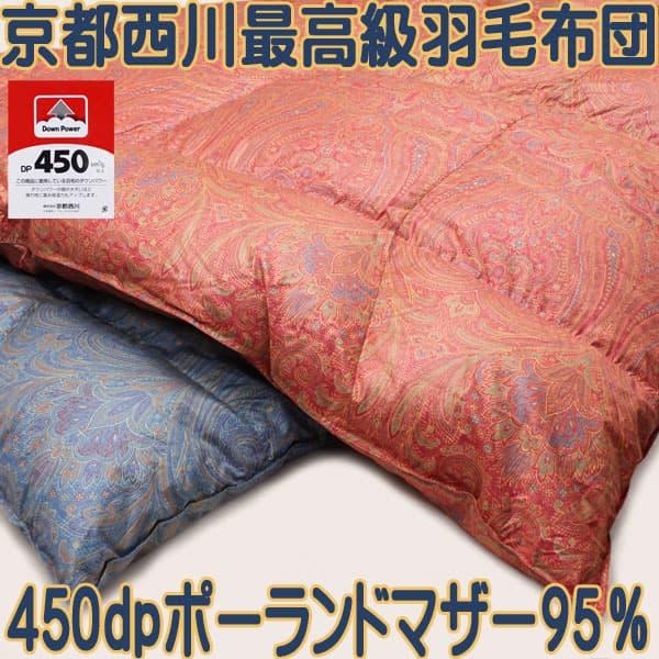 羽毛布団95%ポーランドマザーグース450dp精紡交撚糸