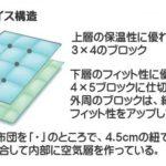 羽毛布団マザーグース3層ラムコ生地京都西川3層DL
